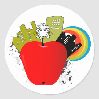 Big Apple - New York Round Sticker