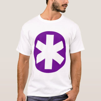 Big Asterisk - Deep Purple and White T-Shirt
