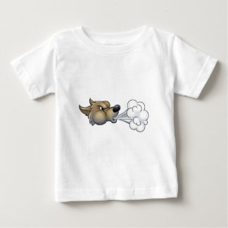 Big Bad Wolf Blowing Baby T-Shirt