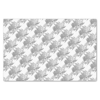 Big Bad Wolf Blowing Down House Three Little Pigs Tissue Paper