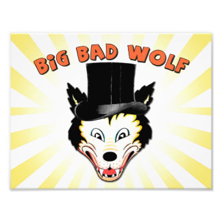 Big Bad Wolf Character Print
