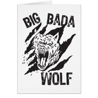 Big Bada Wolf Paw Scratches Card