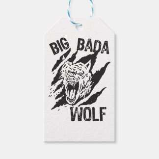 Big Bada Wolf Paw Scratches Gift Tags
