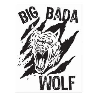 Big Bada Wolf Paw Scratches Postcard