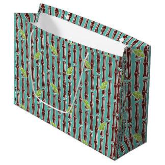 Big Bamboo - Aqua - Large Gift Bag