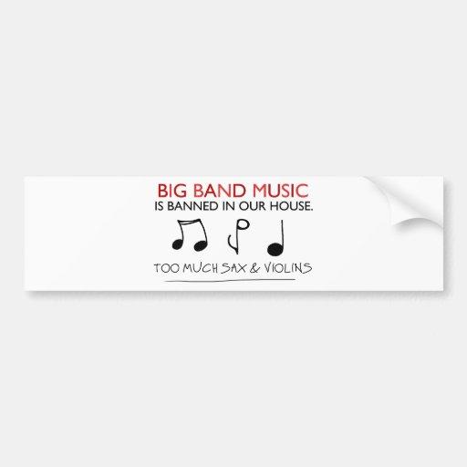 Big Band Music Bumper Sticker