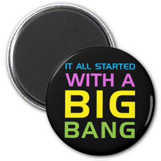 Big Bang 6 Cm Round Magnet
