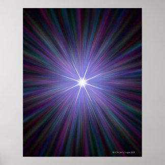 Big Bang, conceptual computer artwork. Poster