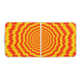 Big Bang in Red and Yellow Beer Pong Table