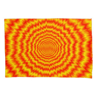 Big Bang in Red and Yellow Pillowcase