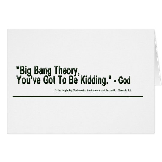 Big Bang Theory Card