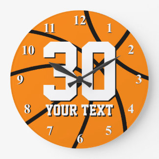 Big basketball wall clock with large numbers