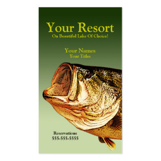Big Bass Business Card Templates