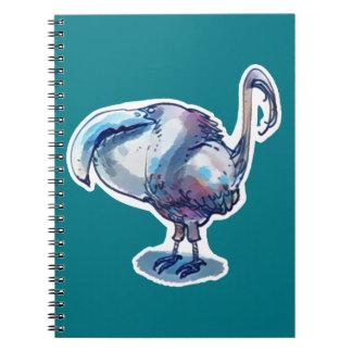 big beak funny bird cartoon style notebooks