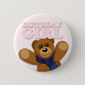 Big Bear Birthday Girl Badge