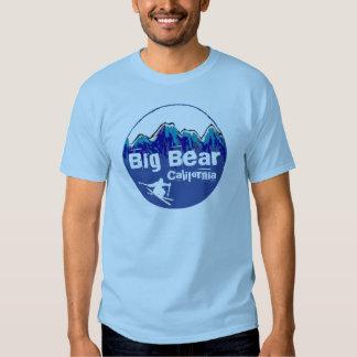 Big Bear California blue skier guys tee