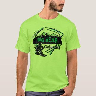 Big Bear California green theme guys ski tee