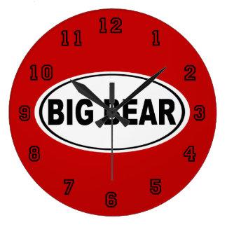 Big Bear California Large Clock