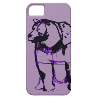 big bear in grape barely there iPhone 5 case