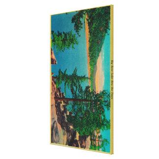 Big Bear Lake View on Rim o' The World Drive Canvas Prints