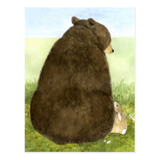 Big Bear  & Little Bunny Postcard