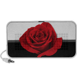 Big Beautiful Red Rose Doodle Speaker