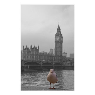 Big Ben and a seagull London Posters