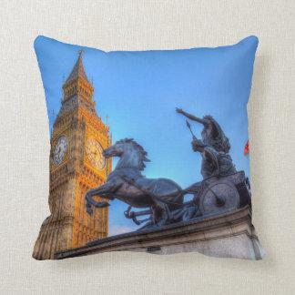 Big Ben and Boadicea Statue Cushion