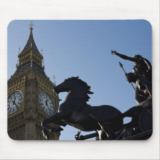 Big Ben and Boadicea Statue Mouse Pad