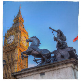 Big Ben and Boadicea Statue Napkin