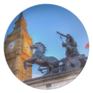 Big Ben and Boadicea Statue Plate