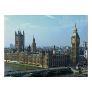 Big Ben and Houses of Parliament - London Poster