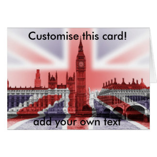 Big Ben and Houses of Parliament, Union Jack Card