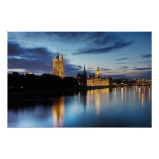 Big Ben and Palace of Westminster at night Poster