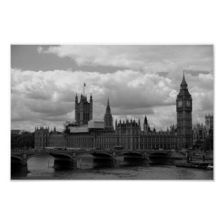 Big Ben and Parliament (London) Poster