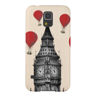 Big Ben and Red Hot Air Balloons 2 Galaxy S5 Cover