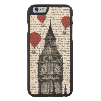 Big Ben and Red Hot Air Balloons Carved® Maple iPhone 6 Case