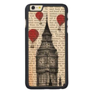 Big Ben and Red Hot Air Balloons Carved® Maple iPhone 6 Plus Case