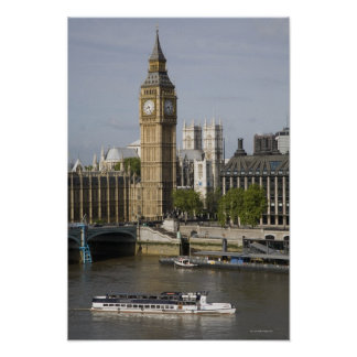 Big Ben and Thames River Poster