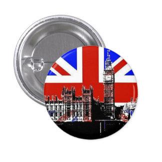 Big Ben and the Union Jack 3 Cm Round Badge