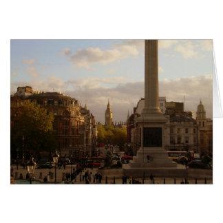 Big Ben and Trafalgar Square Note Card