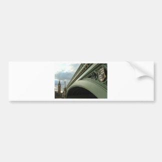 Big Ben and Westminster Bridge Bumper Sticker