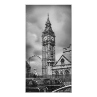 Big Ben Black and White Print
