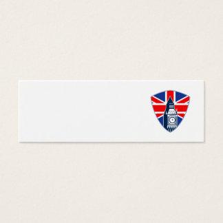 Big Ben British Flag Shield Mini Business Card