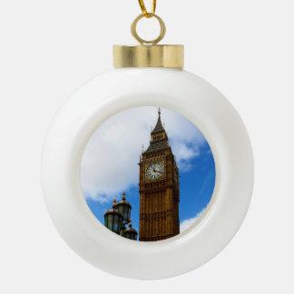 Big Ben Ceramic Ball Christmas Ornament