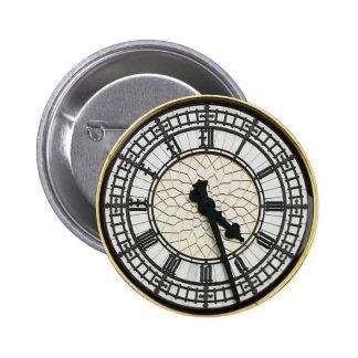 Big Ben Clock Face 6 Cm Round Badge