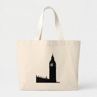 big ben clock large tote bag
