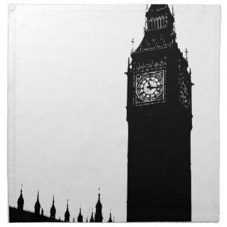 big ben clock napkin