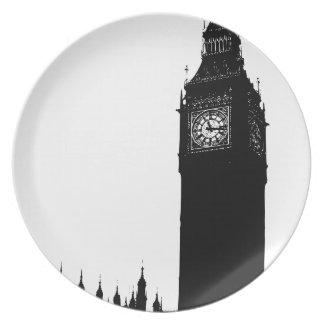 big ben clock plate