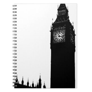 big ben clock spiral notebook